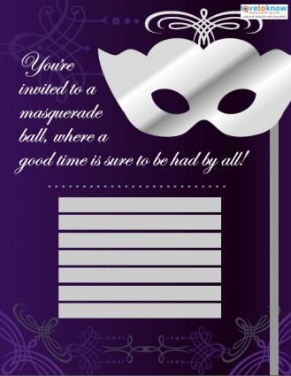 Masquerade Invitations Template Free Masquerade Ball Invitation Templates