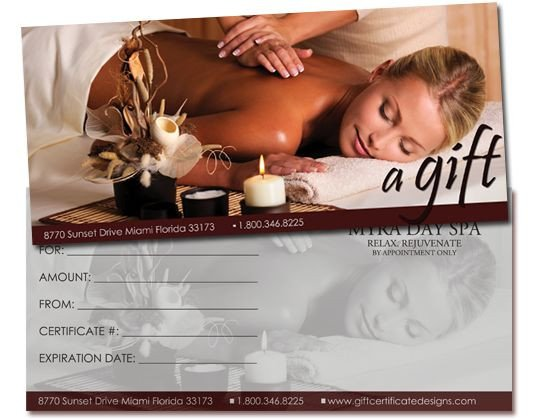 Massage Gift Certificate Template 25 Best Images About Gift Certificates On Pinterest