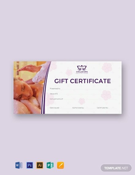 Massage Gift Certificate Template 436 Free Certificate Templates [download Ready Made