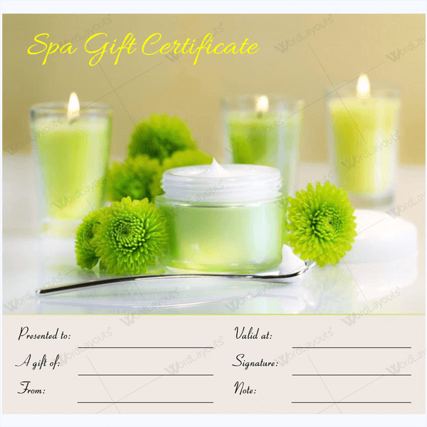 Massage Gift Certificate Template 50 Spa Gift Certificate Designs to Try This Season