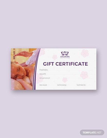Massage Gift Certificate Template Free Blank Gift Certificate Template Download 232