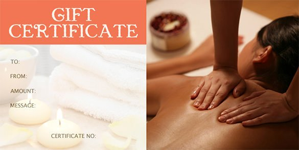 Massage Gift Certificate Template Gift Certificate Template – 34 Free Word Outlook Pdf