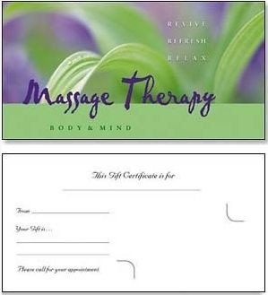 Massage Gift Certificate Template Looking for some Creative Ideas for Making T