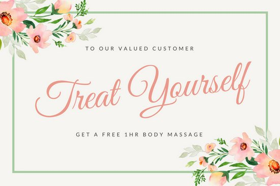 Massage Gift Certificate Template Pink Watercolor Floral Massage Gift Certificate