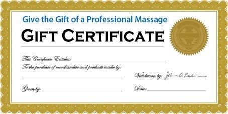 Massage Gift Certificate Template Wel E Flourish Massage Wellness