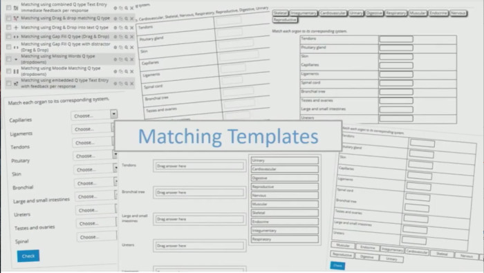 Matching Test Template Microsoft Word Create Learning Objectives In Your Moodle Quiz Templates