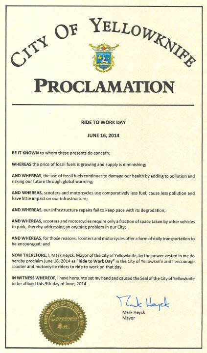Mayoral Proclamation Template 2014 Supporting Cities