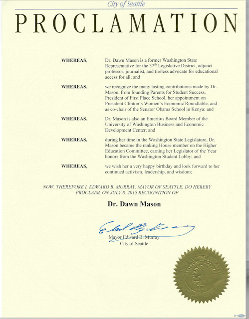 Mayoral Proclamation Template Dawn Seattle the Retired E