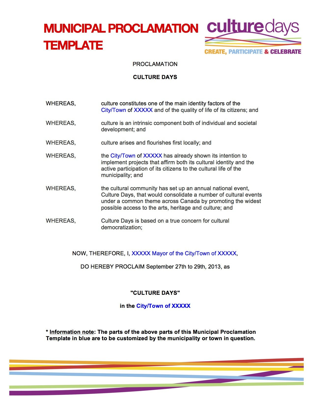 Mayoral Proclamation Template Declare Your Alliance Municipal Proclamation