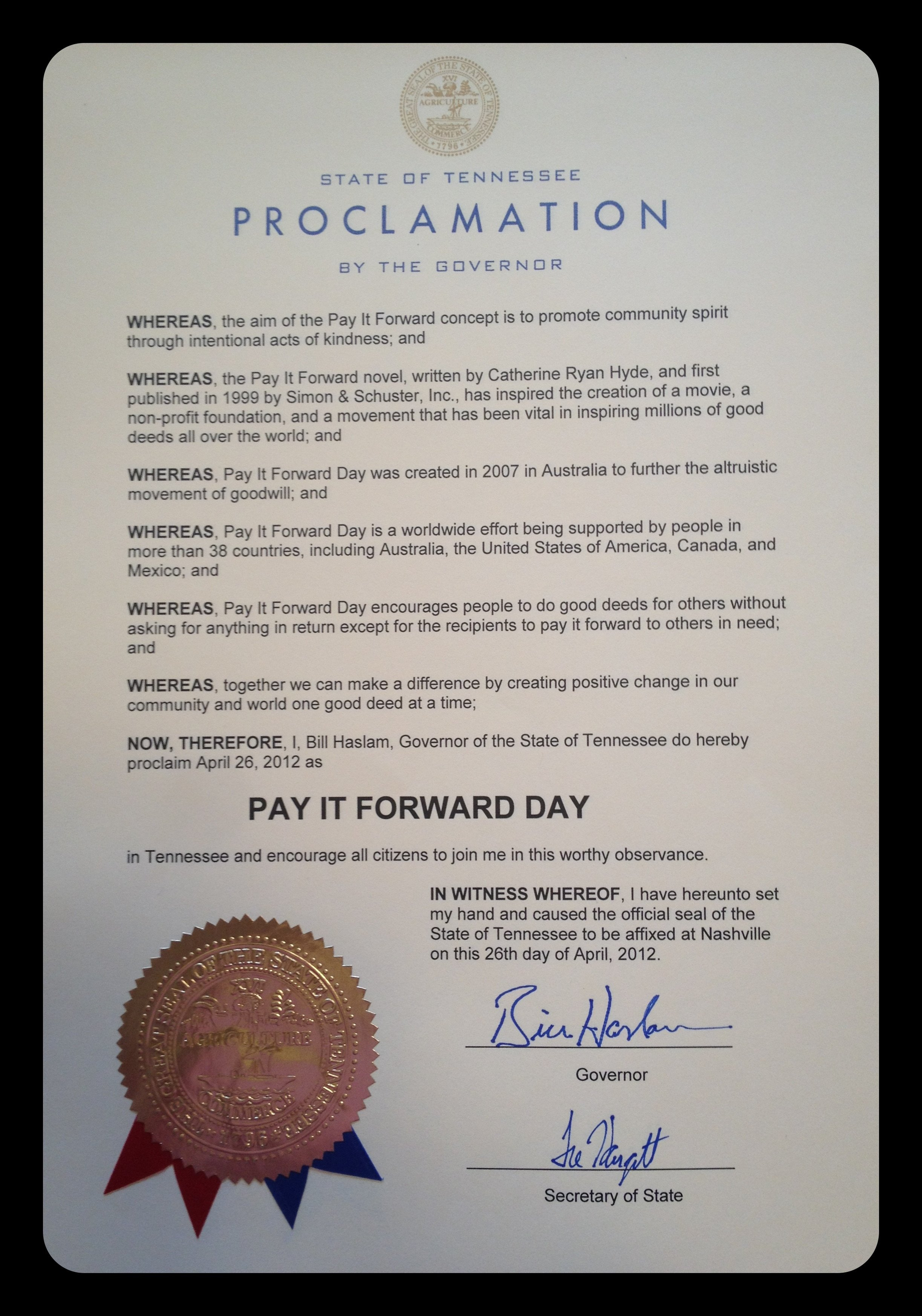 Mayoral Proclamation Template Ficial Proclamation Template
