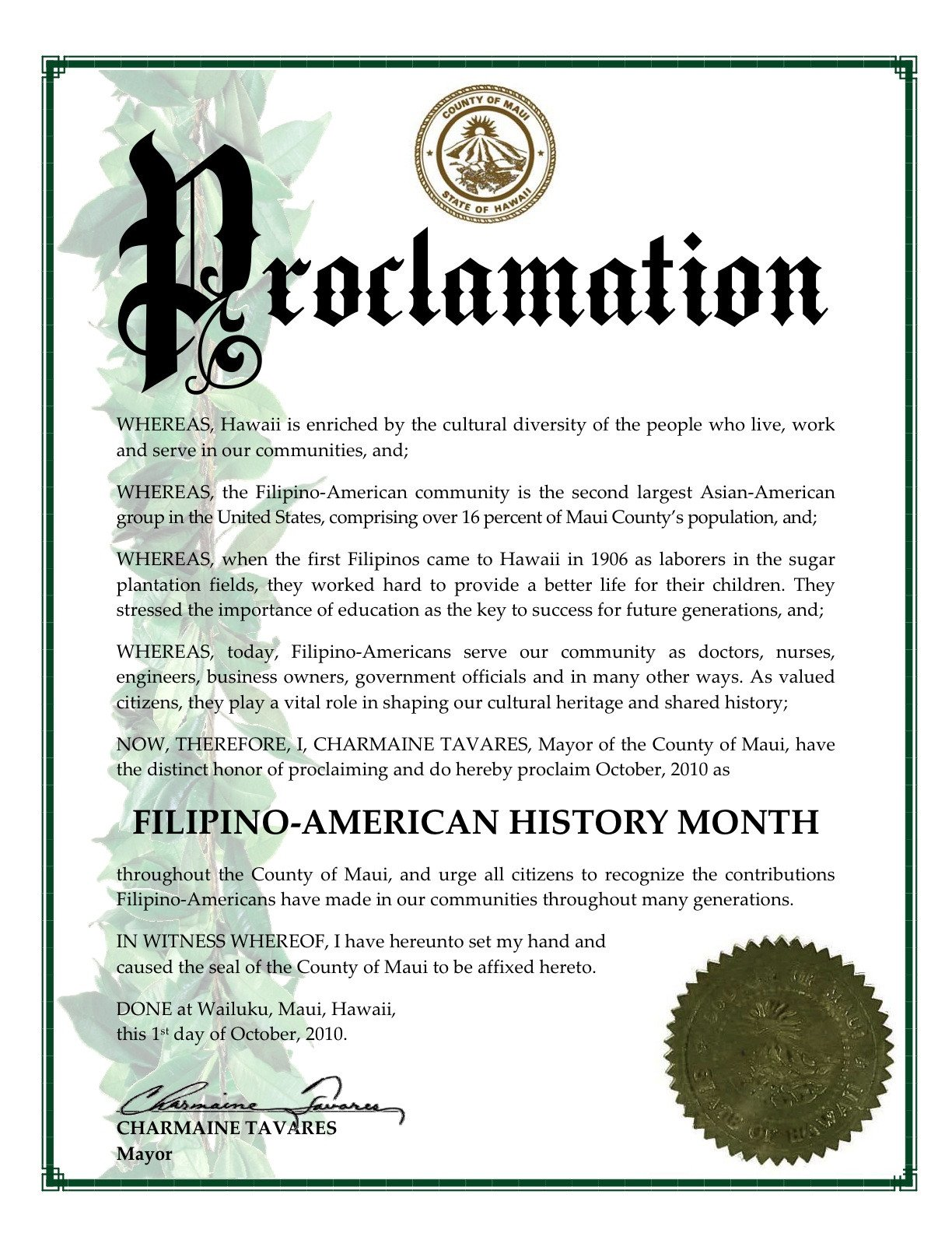 Mayoral Proclamation Template Fil Am Observer Articles [leading Filipino Newspaper