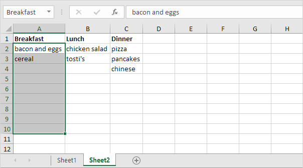 Meal Plan Template Excel Meal Planner Template In Excel Easy Excel Tutorial