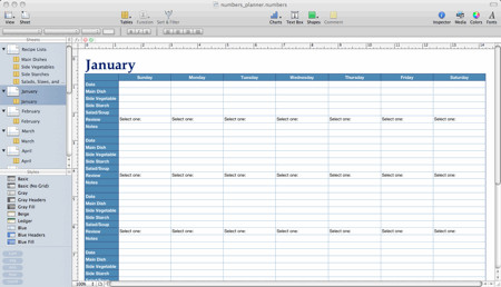 Meal Plan Template Excel Pennies and Pounds Numbers Template for Meal Planning