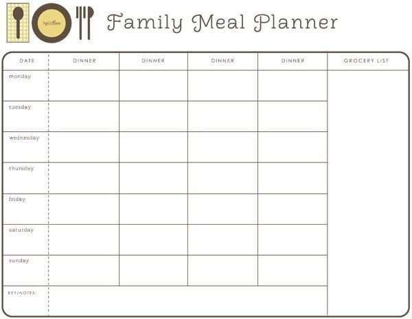 Meal Planning Calendar Template Best 25 Weekly Dinner Planner Ideas On Pinterest