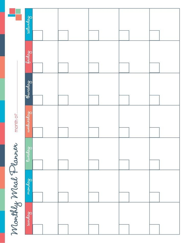 Meal Planning Calendar Template Free Printable Meal Planner Kitchen Set Recipes