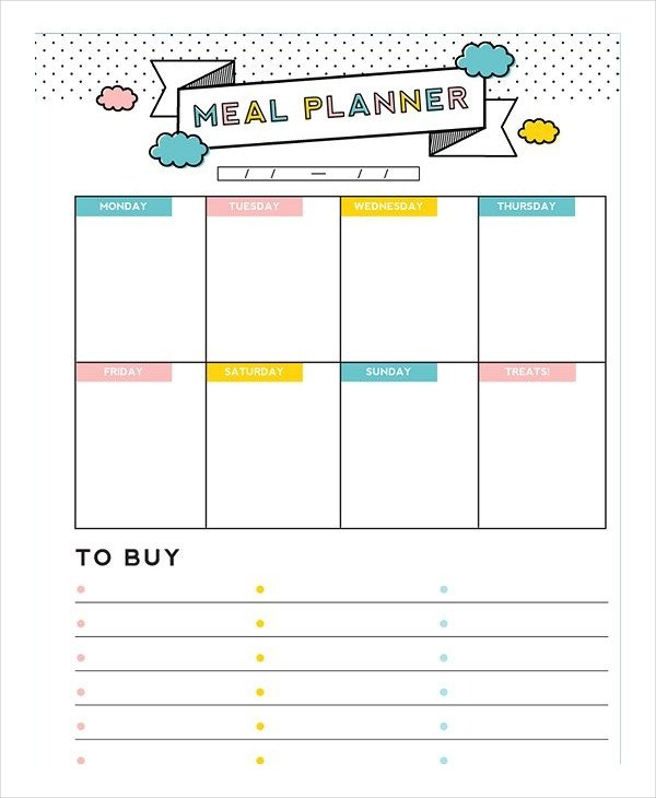 Meal Planning Calendar Template Meal Plan Template 22 Free Word Pdf Psd Vector