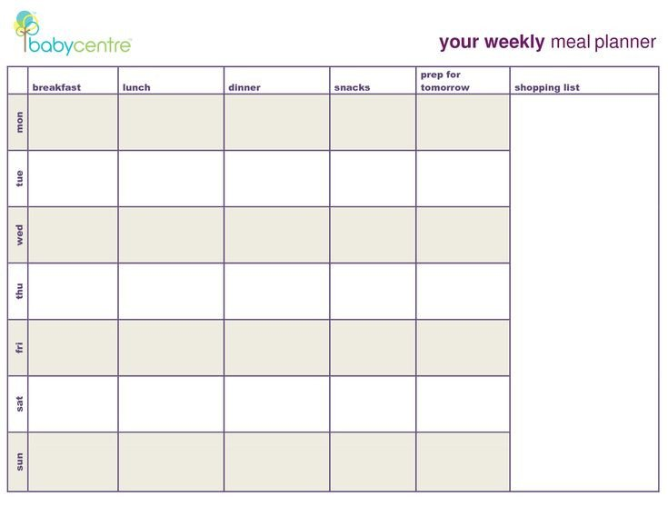 Meal Planning Calendar Template Meal Plan Template Google Search Coach
