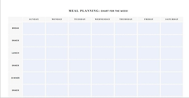 Meal Planning Calendar Template Printable Meal Planning Templates to Simplify Your Life