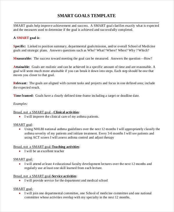 Measurable Nursing Goals Example 11 Smart Goals Examples