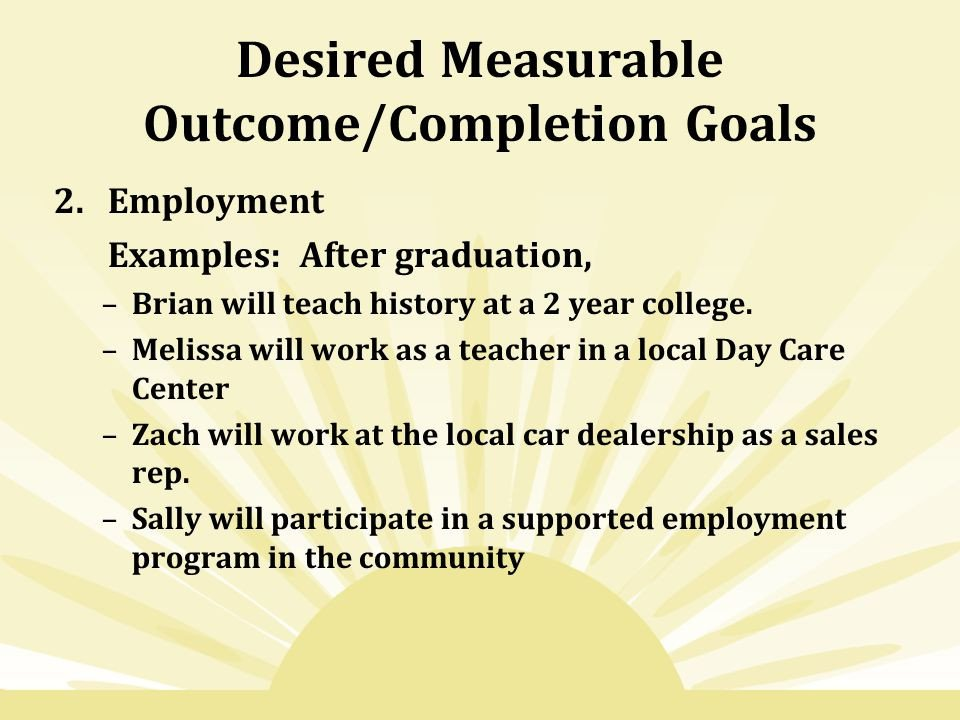 Measurable Nursing Goals Example Agenda the Hs Iep Review Hs Curriculum Supports Hs Panel