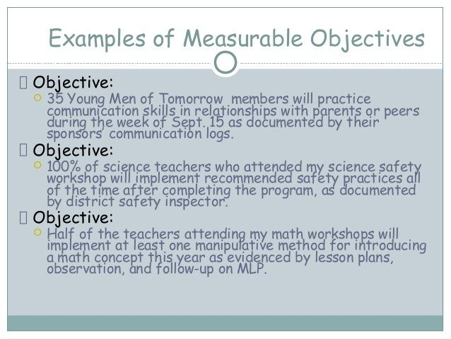 Measurable Nursing Goals Example Writing Measurable Objectives