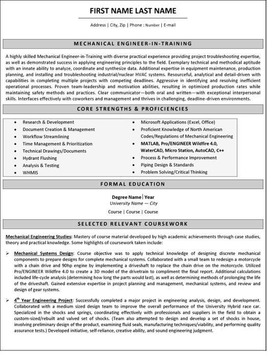 Mechanical Engineer Resume Template 10 Best Best Mechanical Engineer Resume Templates