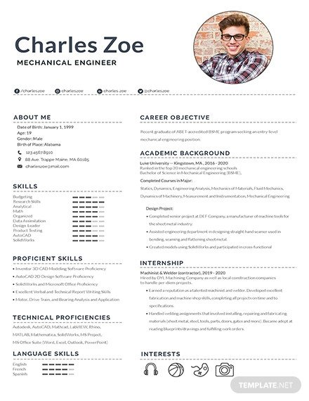 Mechanical Engineer Resume Template 187 Free Resume Templates