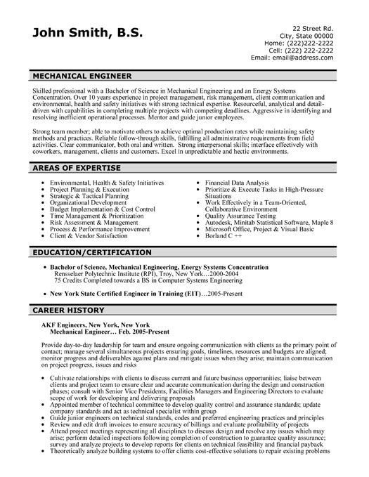 Mechanical Engineer Resume Template 42 Best Images About Best Engineering Resume Templates