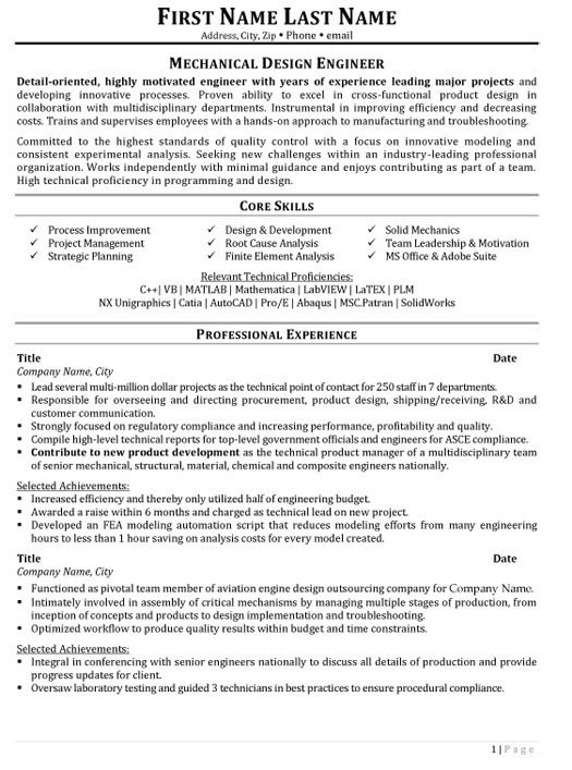 Mechanical Engineer Resume Template top Plastics Resume Templates & Samples