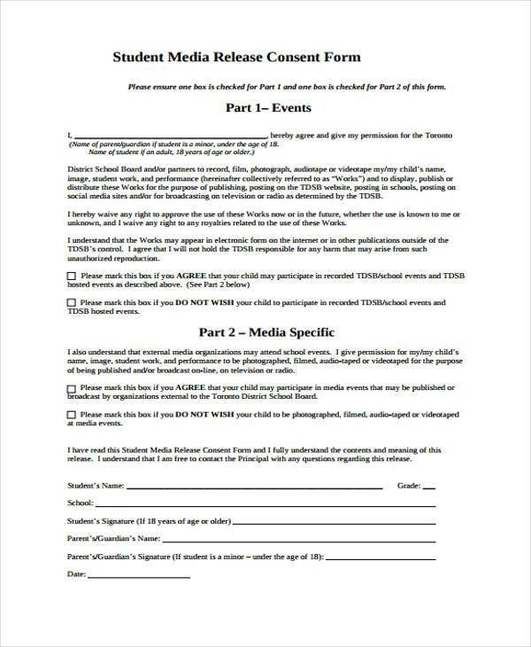 Media Release form Template Release form Templates