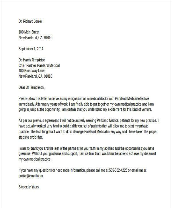 Medical assistant Resignation Letter Medical Resignation Letter Template Letter Giftwatches Co