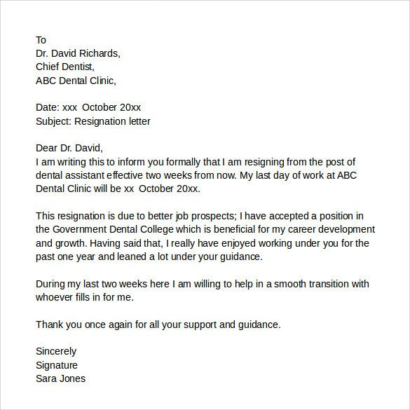 Medical assistant Resignation Letter Resignation Letters 9 Download Free Documents In Pdf Word