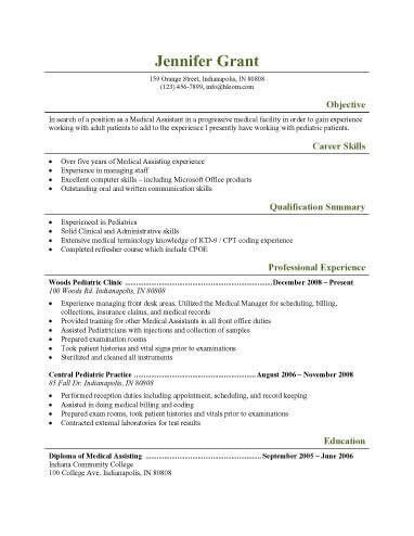 Medical assistant Resume Templates 16 Free Medical assistant Resume Templates