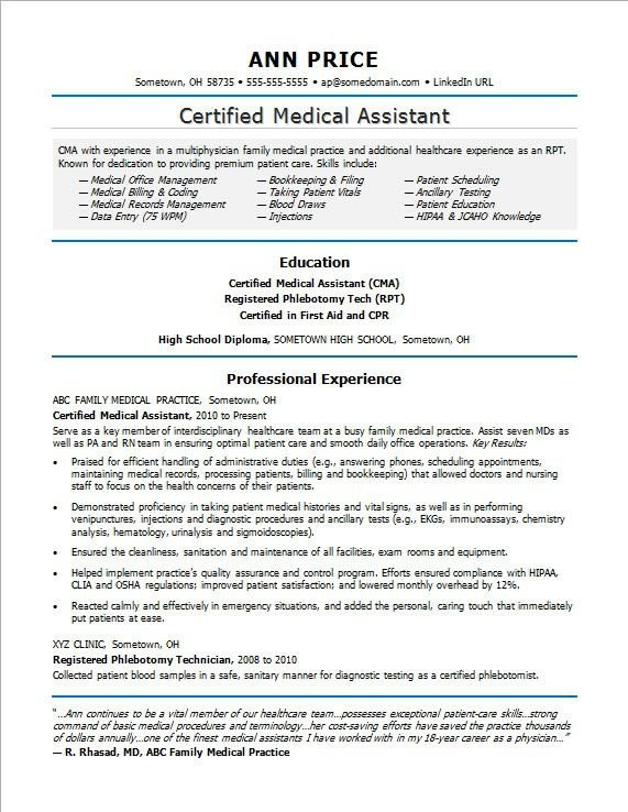 Medical assistant Resume Templates Medical assistant Resume Sample