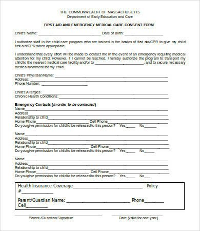 Medical Consent form Template Medical Consent form 9 Free Pdf Word Documents