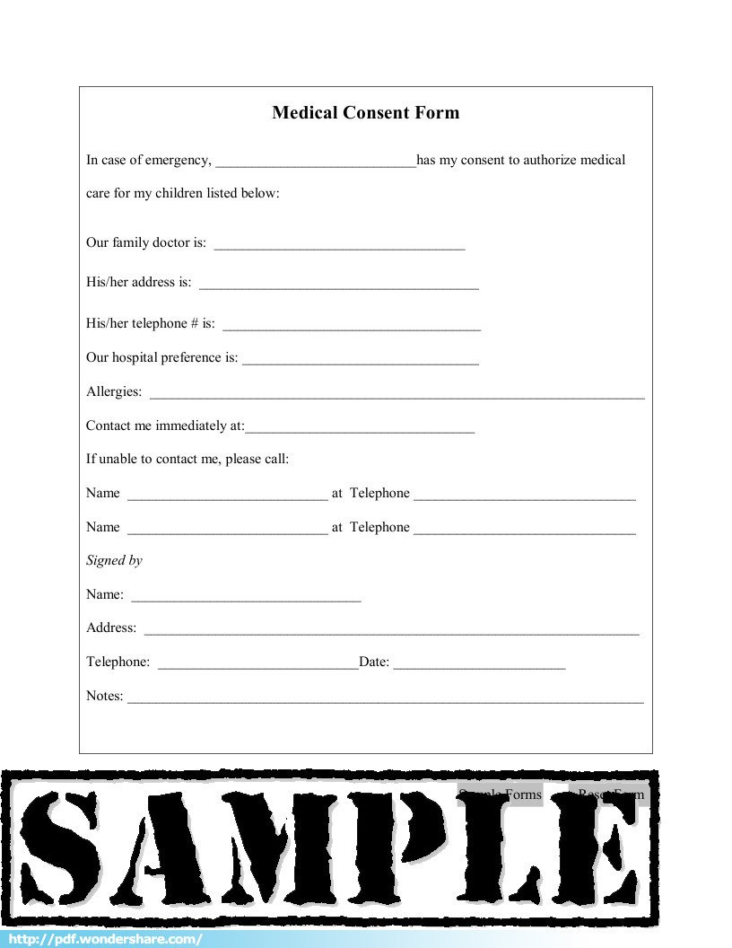Medical Consent form Template Medical Consent Free Download Create Fill Print Pdf