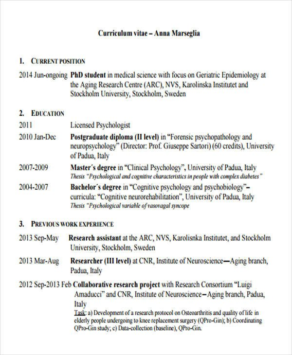 Medical Curriculum Vitae Templates 10 Medical Curriculum Vitae Templates Pdf Doc