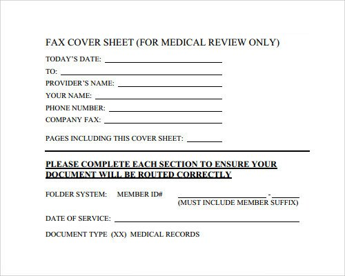 Medical Fax Cover Sheets Fax Cover Sheet Template 28 Download Free Documents In
