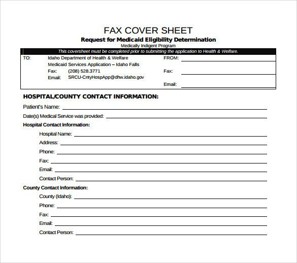 Medical Fax Cover Sheets Medical Fax Cover Sheet 14 Documents In Pdf Word