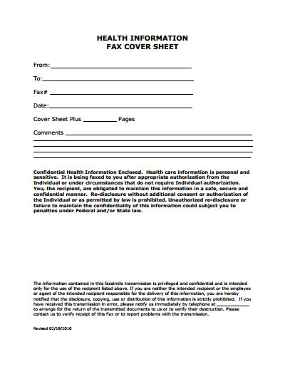 Medical Fax Cover Sheets Medical Fax Cover Sheet Template Free Download Create
