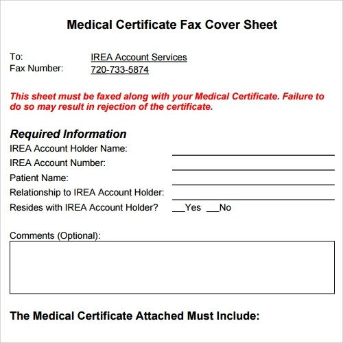 Medical Fax Cover Sheets Sample Fax Cover Sheet Template 27 Documents In Pdf Word