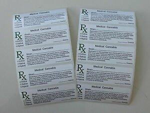 Medical Marijuana Label Template 10 Medical Marijuana Rx Labels Mmj Labels Slap Stickers