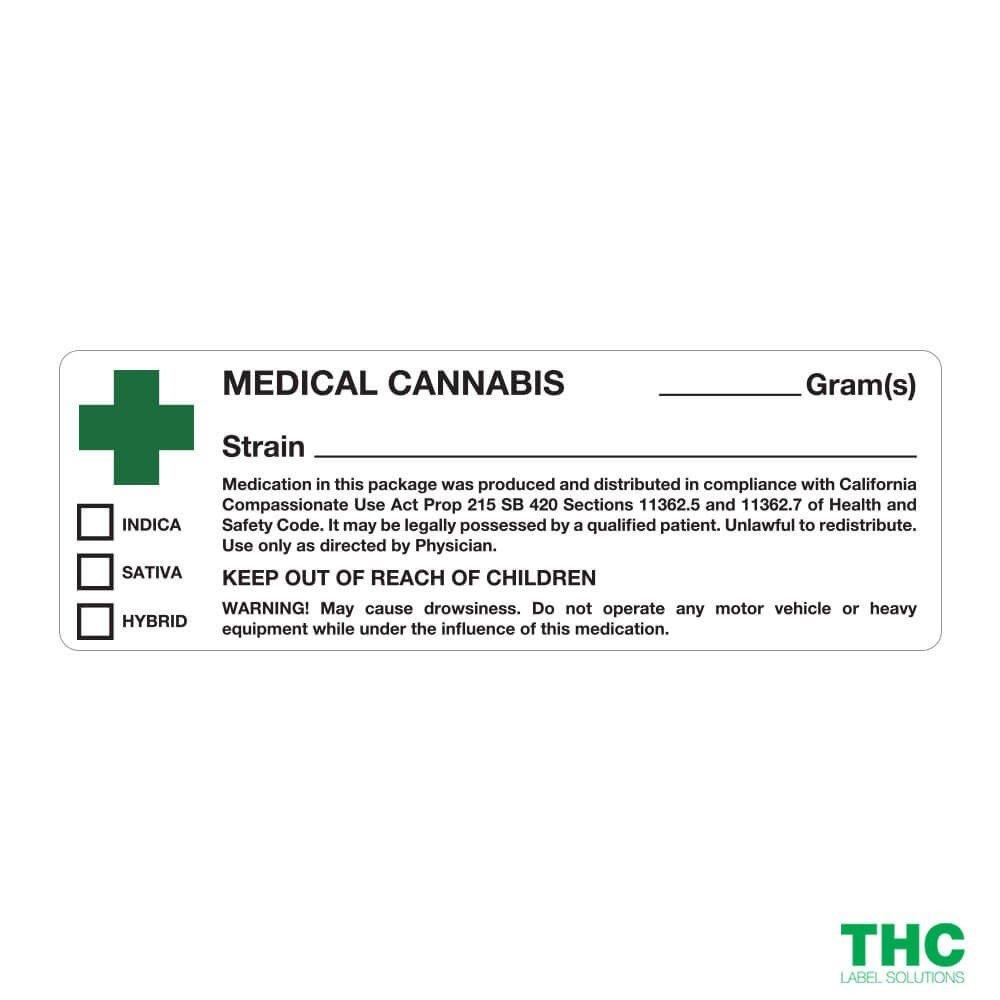 Medical Marijuana Label Template California Medical Cannabis Labels