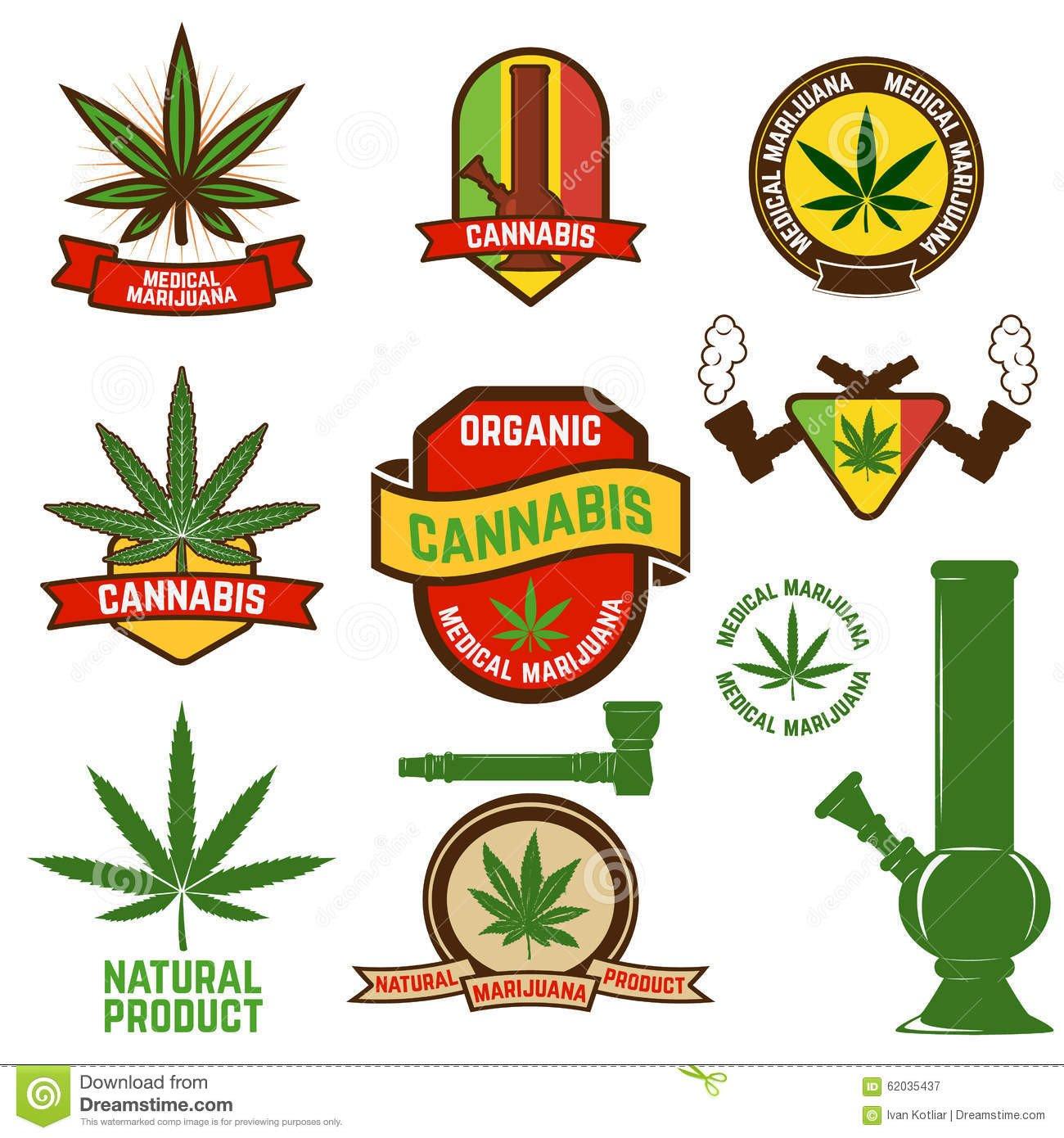 Medical Marijuana Label Template Cannabis Stock Vector Image