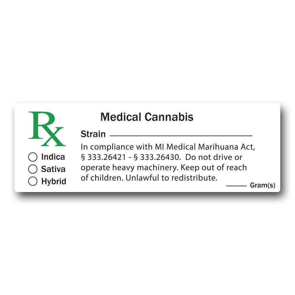 Medical Marijuana Label Template Caregiver Under the Michigan Medical Marihuana Act — Law