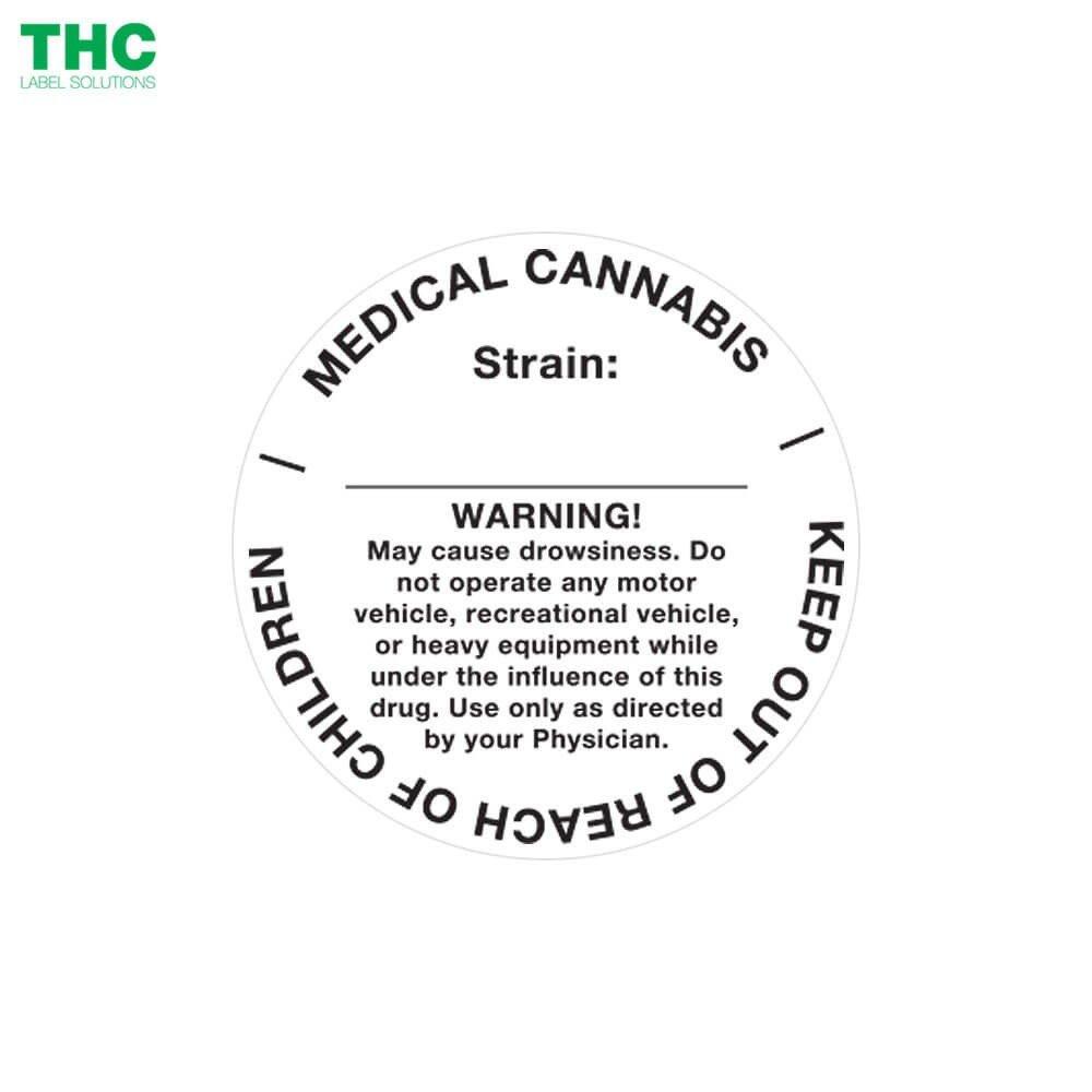 Medical Marijuana Label Template Generic Medical Cannabis Label Circle Design 1 000 Labels