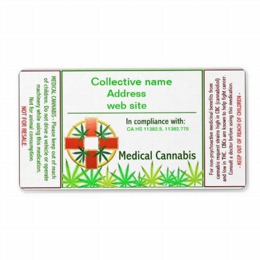 Medical Marijuana Label Template Medical Cannabis Cross Custom Shipping Label Valxart's