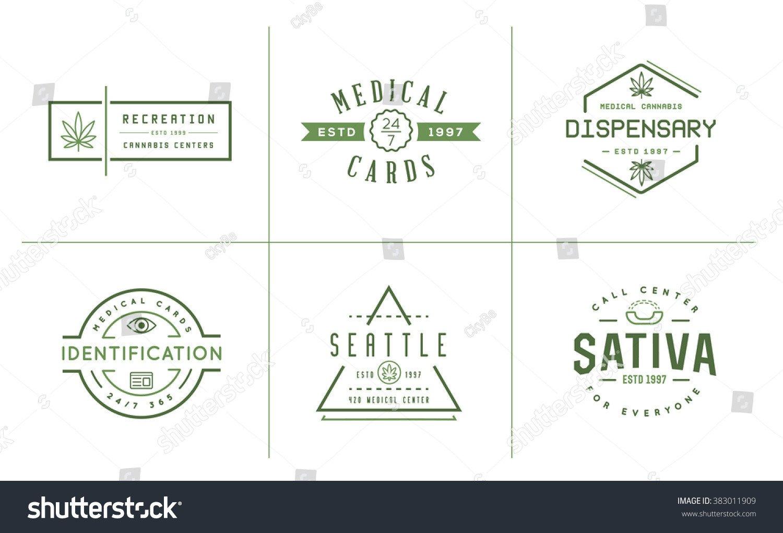 Medical Marijuana Label Template Set Medical Cannabis Marijuana Sign Label Template