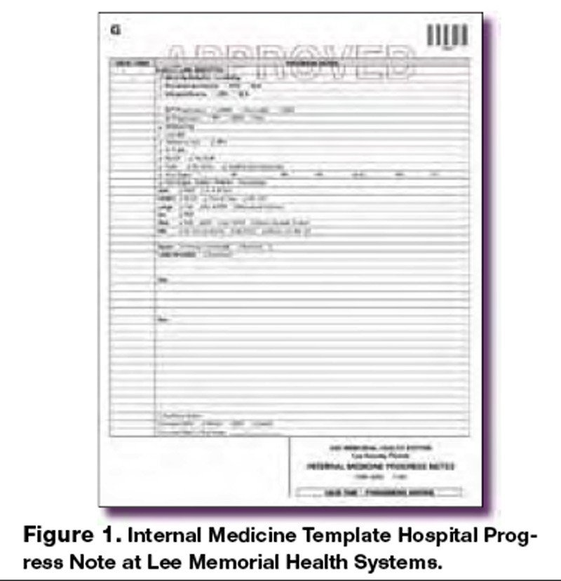 Medical Progress Notes Templates the Template Progress Note A Timesaving Innovation