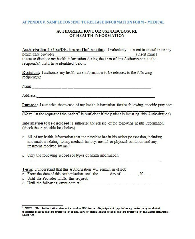 Medical Release form Template 30 Medical Release form Templates Template Lab